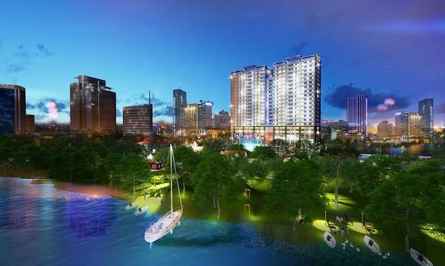 """Lộ diện """"dự án bom tấn"""" view trực diện sông Hồng hút khách thuê"""